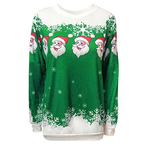 Mutterschafts Angel Kostüm - Damen Weihnachten Sweatshirt Weihnachtsmann Schneeflocke Druck