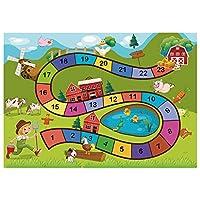 DNAN Kindergarten Cartoon Walk Maze Rug, Living Room Children