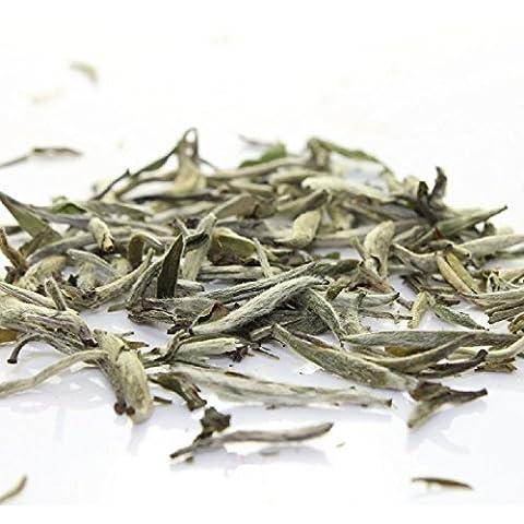 Tealyra - Luxury White Tea - Silver Needle - Bai Hao Yinzhen - Organically Grown in Fujian China - Superior Chinese White Tea - Loose Leaf Tea - Caffeine Level Low - 100g