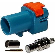 AERZETIX: Conector FAKRA II SMB macho Azul marino para cable RG174 RG316