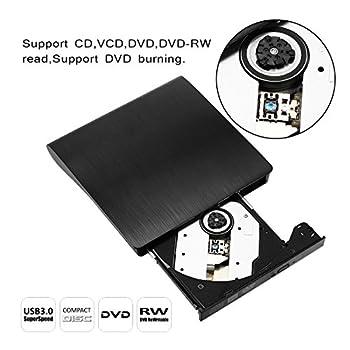 Externes Dvd Laufwerk, Sopoby Usb 3.0 Dvdcd Brenner Für Laptops Und Desktops Notebook Unterstützt Windows Xp2003vista7win8, Mac Os - (Schwarz) 6