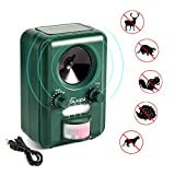 Volador Cat Repellent, Animal Repeller, Ultrasonic Solar Battery Powered Waterproof Garden Pet Deterrent
