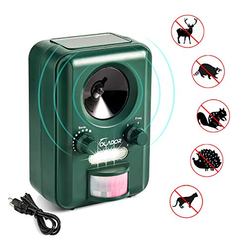 Volador Cat Repellent, Animal Repeller, Ultrasonic Solar USB Powered Waterproof Garden Pet Deterrent