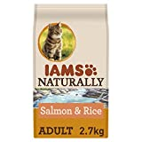 IAMS Naturally Adult Cat with North Atlantic Salmon & Rice, 2.7 kg