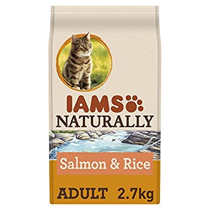 Iams Naturally Cat Food with North Atlantic Salmon and Rice, Complete and Balanced Cat Food with Natural Ingredients, 3… 1