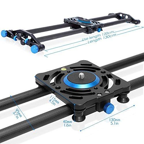 Selens 120cm Carbon Fiber Dslr Camera Slider Rail Track