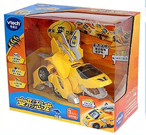 Verformbare Dinosaurier-Spielzeug-Auto für Kinder, Stegosaurus, Gelb