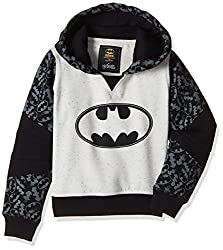 Batman Boys Sweatshirt (BM1EHB727BR_WHITE BLACK NEP / B_3/4)