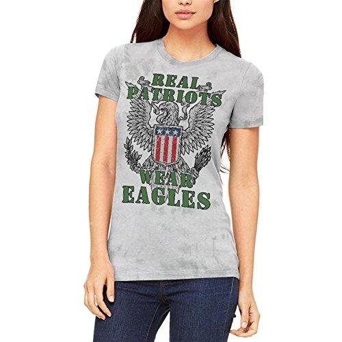 Real Patriots Wear Eagles Juniors Soft T-Shirt Soft Green Blended X-LG (Patriot-eagle-t-shirt)