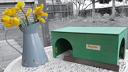 hop-inn-guinea-pig-house-shelter-tunnel-sage-40-cm-l-x-20-cm-w-x-185-cm-h-indoor-or-outdoor-ready-ma