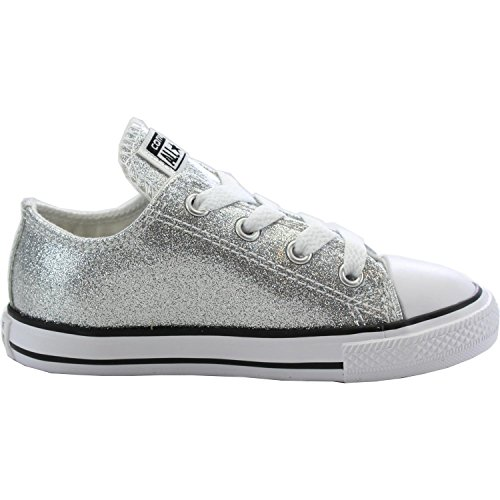 Converse Chuck Taylor All Star Ox Silver Synthetic Baby Trainers Silver