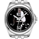 Personalisierte Herrenuhr Mode wasserdicht Uhr Armbanduhr Diamant 548.Für die Liebe von Gitarren