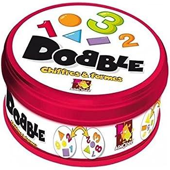 Asmodee DOCF01N - Jeux d'action et de réflexe - Dobble Chiffres et Formes