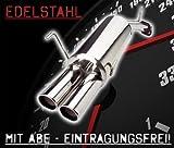 JOM Car Parts & Car Hifi GmbH 85623 Endschalldämpfer Edelstahl