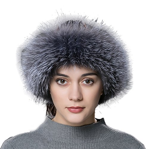 URSFUR Elegant Headband Real Fur Cossak Russian Style Winter Earwarmer