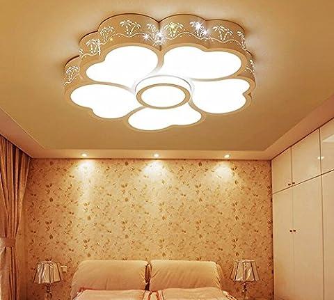 Eclairage de Plafond LED lampe de plafond liwenlong, chambre, restaurant, fer forgé,éclairage trois couleur light,56cm