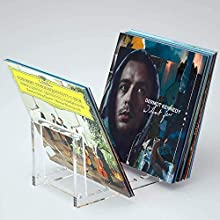 HIIMIEI Clear Vinyl Record Holder, Acrylic Vinyl Record Display Stand for up to 50 Albums