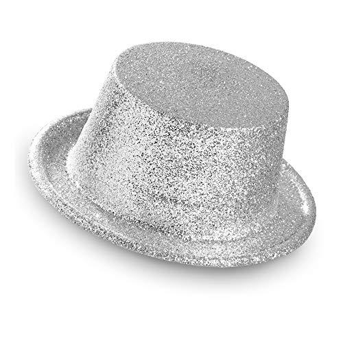 Widmann 28052 Glitter Zylinderhut für Erwachsene, One Size