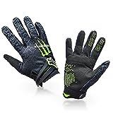 1 Paar Ludan Ungeheuer Hohe Qualität Schwarz Nylon Volle Finger Handschuhe Schutz Offroad Enduro Fahrradhandschuhe M L XL Größe M