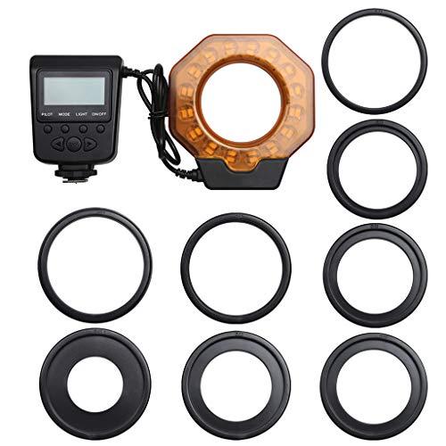 Ruda - Lámpara luz LED anillo macro cámara réflex