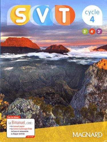 SVT Sciences de la Vie et de la Terre cycle 4 (5e/4e/3e)