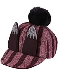 akaddy Orecchie vintage inverno 3D orecchie morbide pompon berretto da  baseball per bambini Kids Sticker cappello 8535d6a8bd44