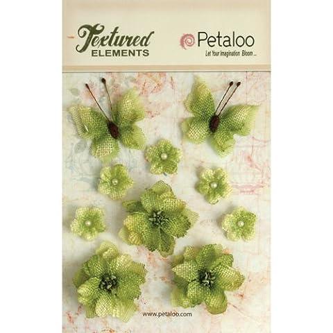 Petaloo textura elementos cinta de flores/mariposas 10-pistachio