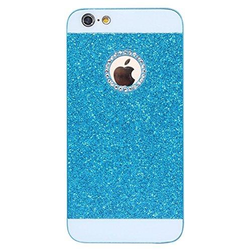 BING Für IPhone 6 / 6S, UV Shimmering Powder Diamond-verkrustet Schutzmaßnahmen harten Fall BING ( Color : Black ) Blue