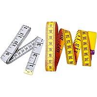Umsole, cinta métrica suave para coser a medida, ideal para sastres, de 150cm y 300cm (amarillo y blanco)