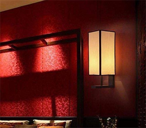 Cwj lampada da parete - la nuova lampada da parete cinese moderna minimalista cinese antiquariato lampada da comodino in ferro battuto soggiorno camera da letto lampada da parete ristorante dell'hote