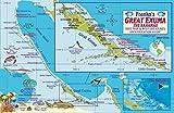 Great Exuma Bahamas Dive Map & Reef Creatures Guide - Laminated Fish Card