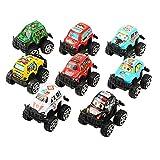 8 Stück Mini Pull-back-Träger-Spielzeug Car & Truck Model, Geländewagen