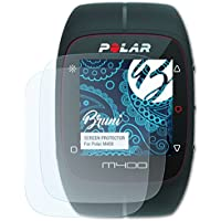 Bruni Película Protectora para Polar M400 Protector Película - 2 x claro Lámina Protectora de Pantalla