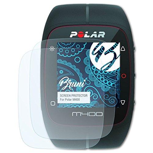 Bruni Schutzfolie kompatibel mit Polar M400 Folie, glasklare Bildschirmschutzfolie (2X)