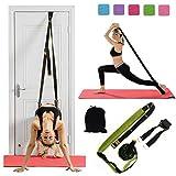 XEMZ Dimagrante Cinghie di Yoga Balletto Cintura Elastica Yoga Cinture Home simulatori Pilates Resistenza Fitness Corda Stretch Strap D-Ring Yoga Cinghie (Verde)