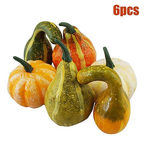 Fruits Basket Halloween Kostüm - Pywee 6 STÜCKE Gefälschte Weiße Kürbis