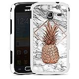 DeinDesign Samsung Galaxy Ace 2 Hülle Case Handyhülle Ananas Gold Marmor Look