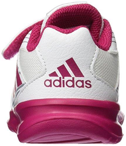 adidas Unisex Baby AltaRun CF Sneaker Weiß (Footwear White/Bold Pink/Mid Grey)