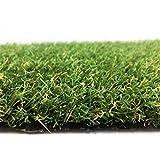 Kunstrasen Ibiza Grün / 20 mm 1.350 g/m² / Rasenteppich nach Maß / strapazierfähig, langlebig und pflegeleicht / indoor wie outdoor geeignet / perfekt für Garten, Terrasse, Balkon und Camping, Größe Auswählen:200 x 600