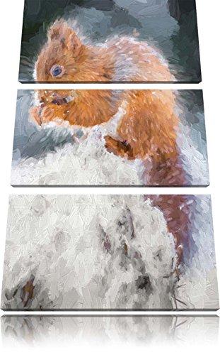 piccolo-scoiattolo-immagine-inverno-brush-effect-3-pc-foto-su-tela-120x80-in-su-tela-xxl-enormi-imma