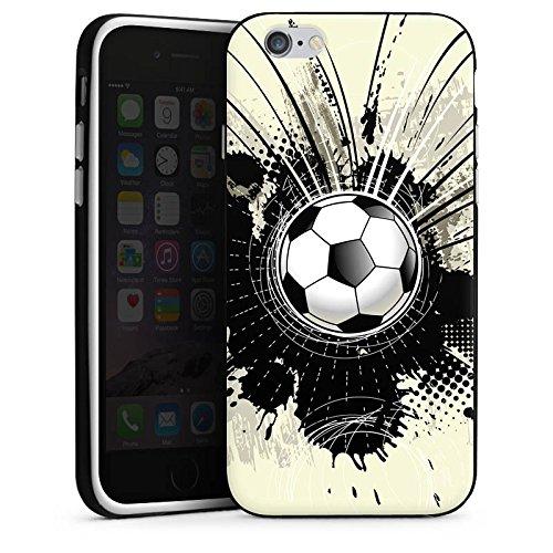 Apple iPhone X Silikon Hülle Case Schutzhülle Fußball Sport Klecks Silikon Case schwarz / weiß
