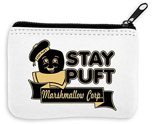 Stay Puft Marshmallow Corp Münzen Reißverschluss Geldbörse