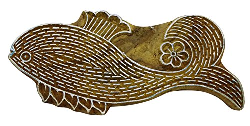 Keramik-block (Holzdrucktype Fisch-Stempel-Fabric-Block Keramik Stempel-Drucker-Stempel)