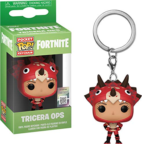 Funko- Keychain Pocket Pop Fortnite Tricera Ops Figura Coleccionable, Multicolor (35716)