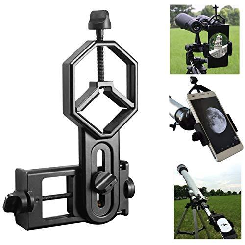 Shackcom Universale Smart Phone Adattatore Per Telescopio Oculare Diametro 52 100 Compatibile Con Telescopio Monoculare Binoculare Telescopio e