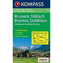 Bruneck/Brunico, Toblach/Dobbiaco, Hochpustertal/Alta Pusteria. Wander-, Bike- und Skitourenkarte. GPS-genau. 1:50.000