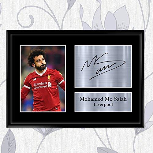 Foto von Impired Walls in A2-, A3-, A4-, A5-Form mit Autogramm von Mohamed Mo Salah als Geschenk für Liverpool-Fans, A5 (210 x 148 mm) - Wall Plaque-form