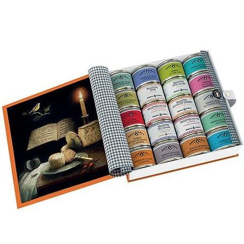 Geschenk-Set von 20 köstlichen Terrinen und Rillettes von Comtesse du Barry 20x70g