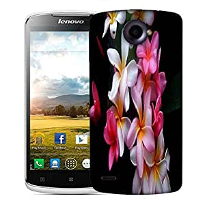 Snoogg White Petals Designer Protective Phone Back Case Cover For Lenovo S920