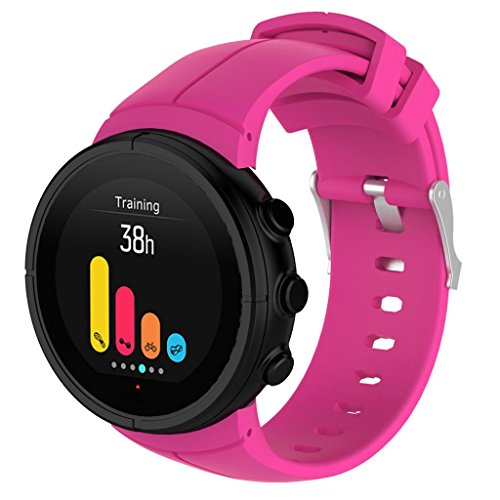 squarex lusso orologio in gomma cinturino elastico di ricambio per orologi Suunto Spartan ultra, Uomo, Hot Pink, AS Show